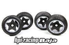 Original HPI Baja Bereifung inkl Felgen Einlagen + Reifen Front/Heck y1488 tires