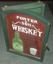 Vintage Porter & Son Whiskey Keys Holder Old Style Antique 21x15cm