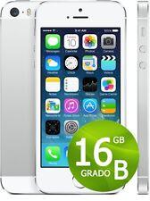 APPLE IPHONE 5 S 16 GB BLANC SILVER NIVEAU B+ACCESSOIRES + GARANTIE 1 ANNÉE GRIS