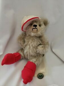 """MerryThought STREET WISE GEORGE Teddy Bear Original Tags 10"""" England LIMITED ED."""