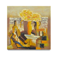 NY Art - Contemporary Floral Still Life 24x24 Original Oil Painting on Canvas!