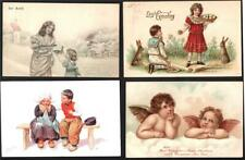 4 MISC.CHILDREN, ARTIST SIGNED  GREETINGS.1905.OLD POSTCARDS.#4