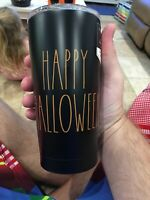 Rae Dunn Halloween 17oz Stainless Insulated Tumbler HAPPY HALLOWEEN black w/or