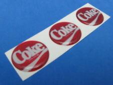COCA COLA DOMED DECAL EMBLEM STICKER SET OF THREE #139