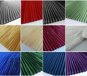 Glossy Big Stripes Pleated Fabric Satin Fabric Sold By Meter 150cm Wide