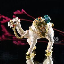 Camel Animal Shaped Hand Printed Craft Metal Trinket Box Jewelry Wedding Decor