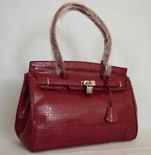 New Red Croc Prints Handbag Purse Bag-2 ( W17)