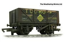 Hornby 7 Plank BR ex PO Open Coal wagon *PRO WEATHERED LOOK**