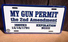 My Gun Permit Issued 2nd Amendment Guns Novelty License Plate Bar Wall Decor