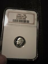 1961 SILVER DIME---NGC PF 68 CAM---OLDER HOLDER---great eye appeal, nice mirrors