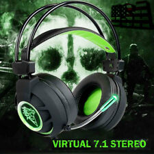 Gaming Headset Virtual 7.1 Channel Surround Sound Stereo LED Headphones WIT