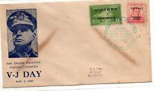 Philippines Manila/Japan FDC V-J Day Sept.2 1945 MacArthur Victory