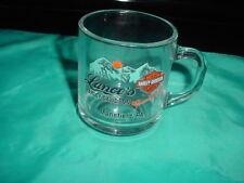 HARLEY DAVIDSON MANSFIELD PA. GLASS COFFEE MUG/CUP MADE IN U.S.A.