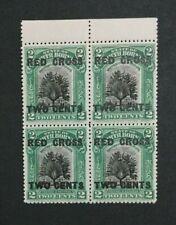 MOMEN: NORTH BORNEO SG #227 1918 14mm BLOCK MINT OG NH LOT #208652-3034