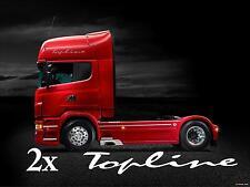 Scania topline stickers Pair decal for lorrys trucks wagons cab side bodywork