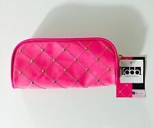 NWT STUDIO C Pink & Gold Personal Clutch Travel Cosmetic Makeup Case Pencil