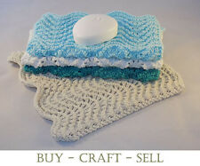 Knitting Pattern - Dishcloths - Washcloth - Feather & Fan - Knit to Sell Option