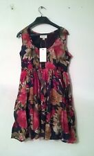 Brand New Gorgeous Size 14 Rose Floral Swing / Skater Dress