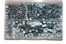 Assorted Box of QTY 450 Metric Nuts BZP M5 M6 M8 M10 Zinc Plated Nut AT13