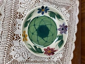 Vintage Gail Pittman Art Pottery Daisy Chain Bowl