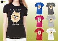 Pomeranian Women Shirts Cute Pomeranian Face Love Dog Ladies Shirts (19657hd4)