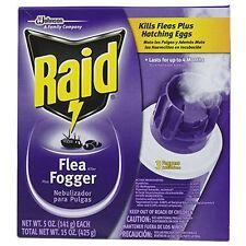 Raid Flea Fogger - Kills Fleas Plus Hatching Eggs For Up To 4 Months 3 Pack