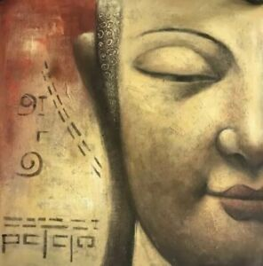 Amazing Buddha Wall Painting on Canvas