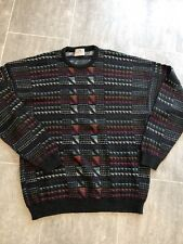 VINTAGE 90's Pronto Uomo Striped Cosby Style Sweater XL MEN'S Made In Italy