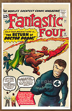 Fantastic Four #10  poster art print '92  Jack Kirby