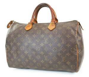 Authentic LOUIS VUITTON Speedy 35 Monogram Boston Handbag Purse #38852