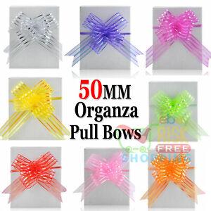 20 Pull Bows 30mm Wedding Car Gift Wrap Ribbon Florist WATERPROOF Decorations UK