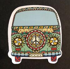 VW Volkswagen Hippie Peace Van Love Bus Skateboard Snowboard Bumper Sticker