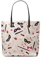 Kate Spade Daycation Bon Shopper Tote Lips Roses Makeup Valentines Gift Bag