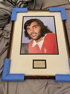 Hand signed George Best 16 X 12 Display