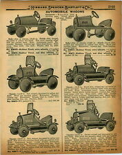 1926 PAPER AD Marmon Cadillac Ace Reo Police Chief Pedal Car
