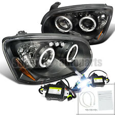 For 2004-2005 Subaru Impreza WRX Halo LED Projector Headlights Blk+6000K HID Kit
