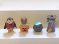 1993 Hallmark Merry Miniatures Halloween Lot of 4 Cauldron Bat Mouse Witch Owl