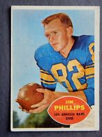 Jim Phillips #66 Topps 1960 Football Card (Los Angeles Rams) VG