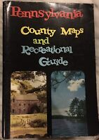 Vintage Pennsylvania county maps and recreational guide