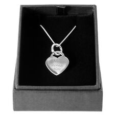 Heart Pendant And Chain Solid Silver 925 Personalised Engraving Gift Present