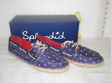 Splendid New Womens Ranger Navy Floral Linen Boat Shoes 6.5 M Shoes