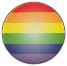 Bumper Stickers: Round Gay Pride Rainbow Sticker   Gay Lesbian Ally   Support