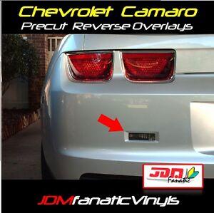 10-13 Chevy Camaro Smoked REVERSE Overlays SMOKE TINT Vinyl Film PRECUT RS SS
