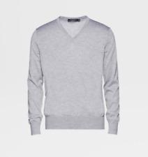 Ermenegildo Zegna Cashmere and Silk Grey V-neck Sweater Medium/Eur 50/UK 40
