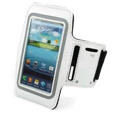 WHITE ARMBAND SPORTS GYM WORKOUT COVER CASE RUNNING ARM Q7C for SMARTPHONES