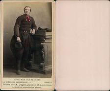 Jager, Costume Pays Bas, Marken CDV vintage albumen, Tirage albuminé  6,5x10