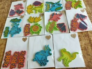 DINOSAUR STICK ON SHAPES { LOOT BAG FILLERS } PACK OF 3