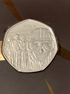 Gibraltar 2020 We Unite As One Salute To The Keyworkers 50p Commemorative Coin #