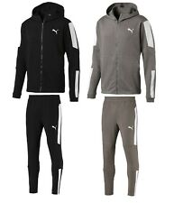 NEW MEN'S PUMA ENERGY BLASTER HOODIE JACKET & JOG PANTS TRACKSUITS BLACK GRAY