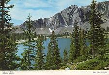 postcard USA Wyoming Mirror Lake  & snowy range of Medicine Bow   unposted